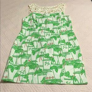 Lilly Pulitzer Just Add Mint print Lacina dress.
